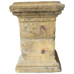 Antique 18th Century Limestone Column from the Village of Charlieu in Loire