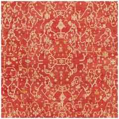 19th Century Turkish Oushak Carpet