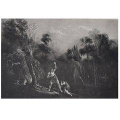 John Martin, Adam Reproving Eve. Mezzotint, 1827