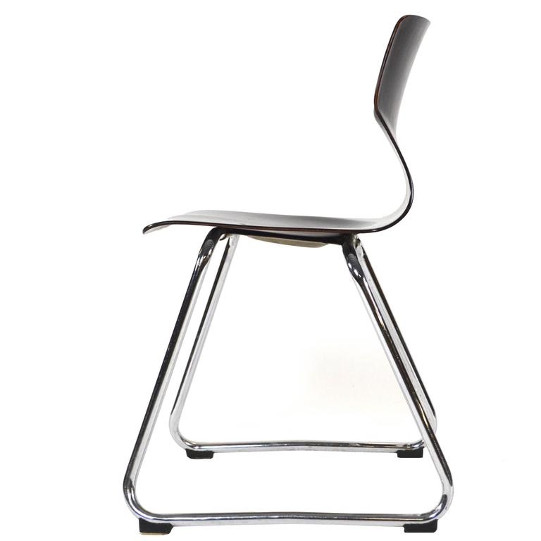 Multiple Elmar Flötotto Germany Pagholz Stacking Chairs, Germany