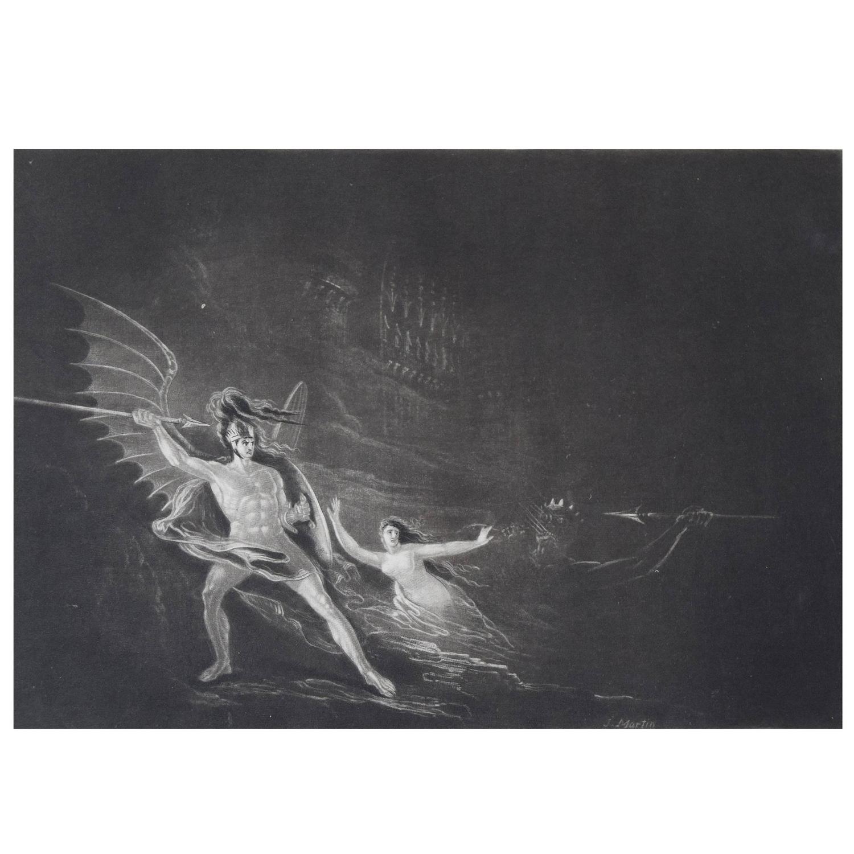 Satan Sin And Death Paradise Lost Book: John Martin, Sin Preventing The Combat Between Satan And