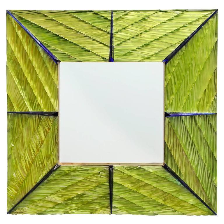 Hand-Carved Wall Mirror by Ghiró Studio For Sale