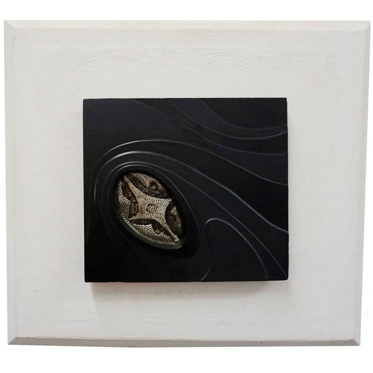 Nail Sculpture in Resin Frame Dated 1970