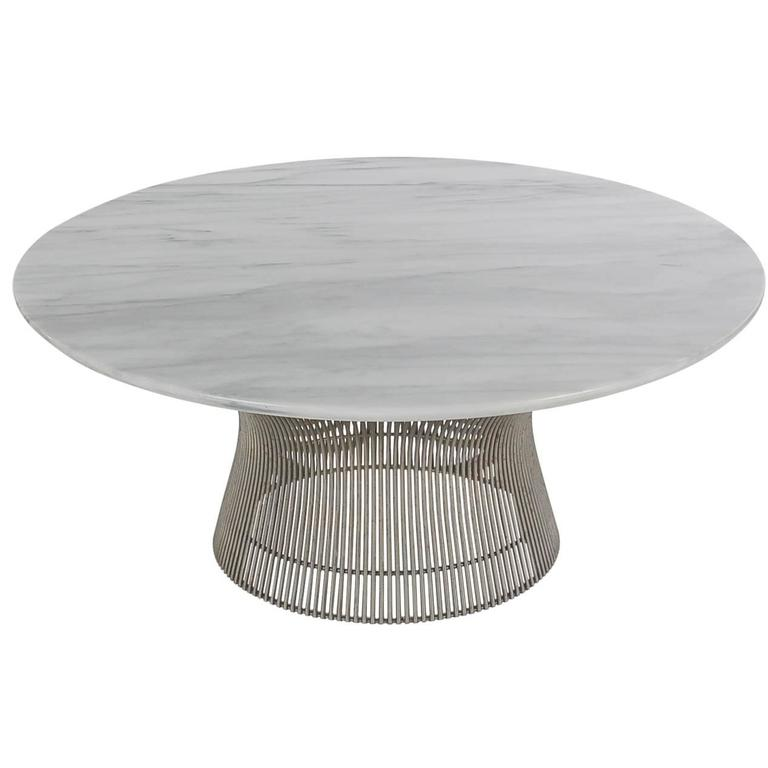 Warren Platner for Knoll Round Marble Cocktail Table For Sale