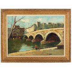 """Point Marie, """"Vue de la Cite"""", Paris  by George Elmer Browne"""