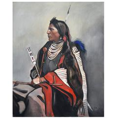 'Arikara' Painting by Barbara Sandler