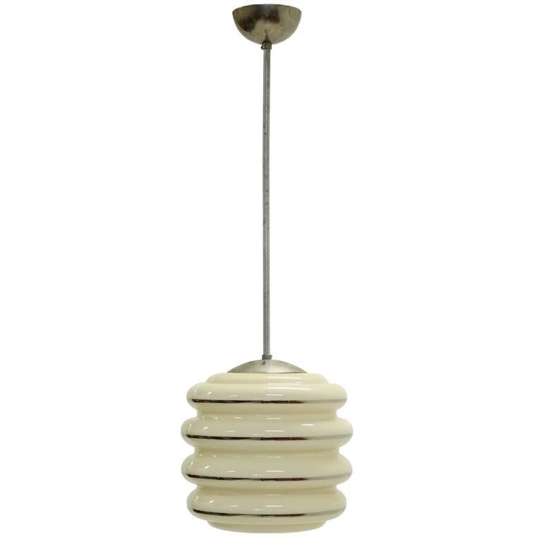 Rare Functionalist Ceiling Light, 1950s