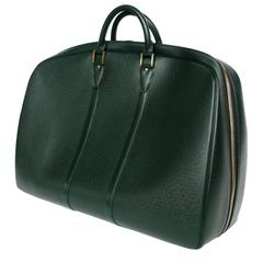 Louis Vuitton Hunter Green Taiga Leather Helanga Travel Bag