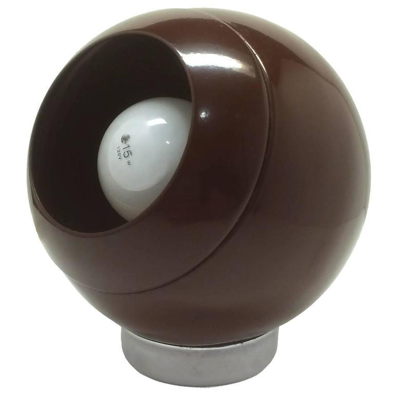 Brown Metal Eyeball Lamp