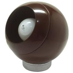 Brown Metal Eyeball Lamp