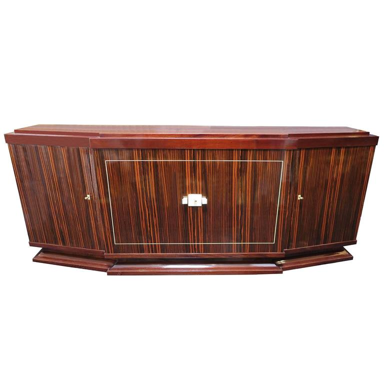 Louis Majorelle French Art Deco Sideboard in Macassar Ebony 1