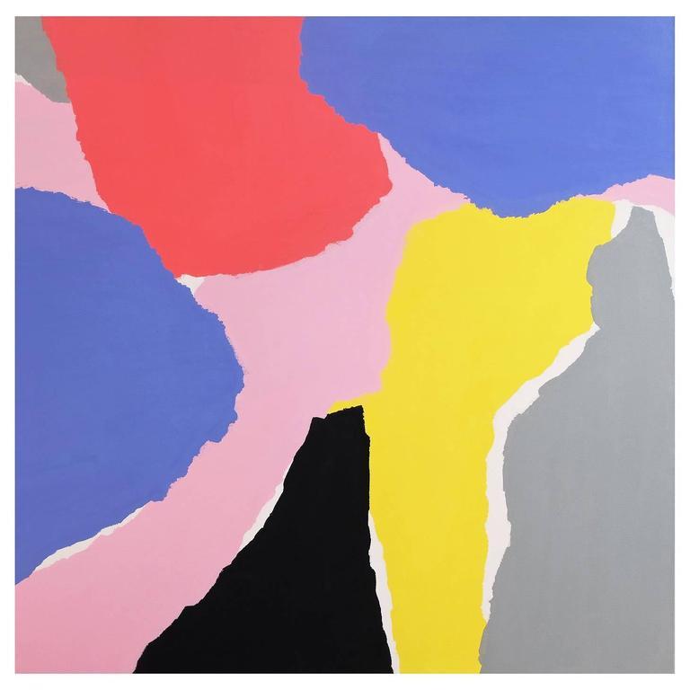 'Contour Cutout' Abstract Landscape Painting by Alan Fears Pop Art