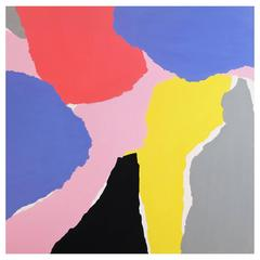 'Contour Cutout' Abstract Landscape Painting by Alan Fears Pop Art