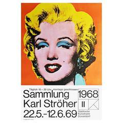 Original 1960s Andy Warhol Exhibition Poster