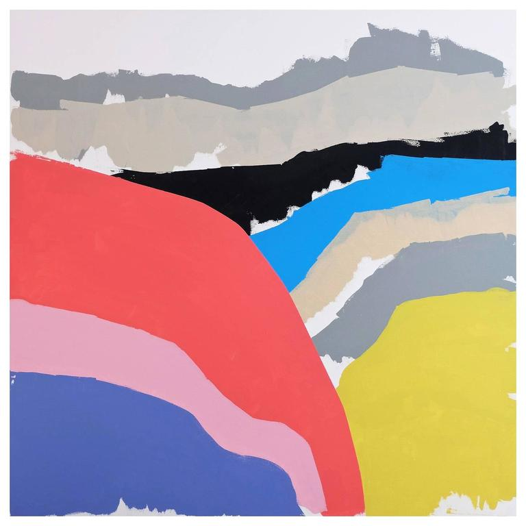 'Hummock Jumble' Abstract Landscape Painting by Alan Fears Pop Art