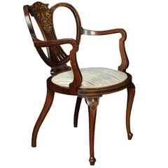 Early 20th Century Inlaid Armchair