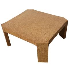 Rare Cork Coffee Table by Paul Frankl