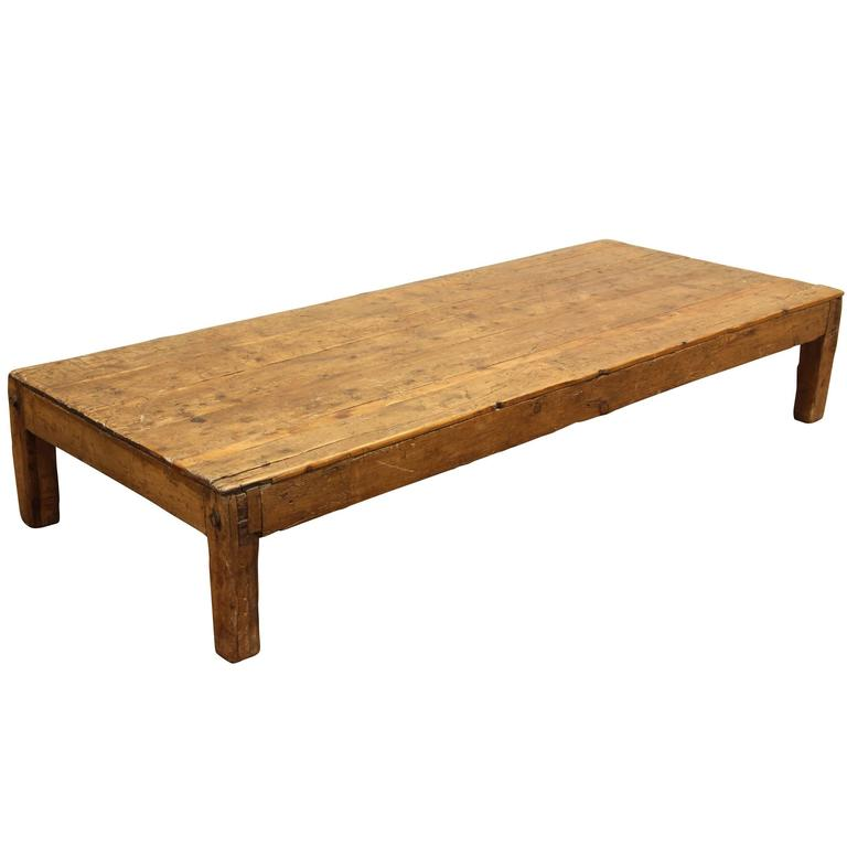 Primitive English Pine Coffee Table At 1stdibs