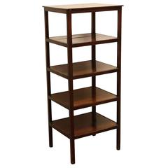 Antique English Five-Tier Mahogany Etagere