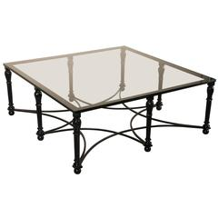 Neoclassic Style Iron Cocktail or Coffee Table