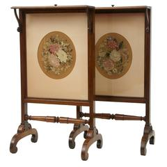Fine Pair of Rosewood Regency Fire Screens