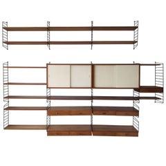 Shelving System / Wall Unit by Nisse Strinning for String Design AB Sweden, 1960