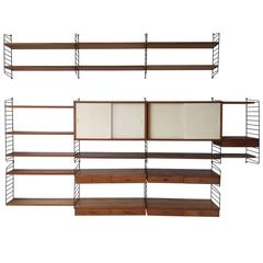 Shelving System / Wall Unit by Nisse Strinning for String Design AB Sweden, 1960