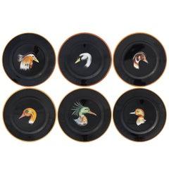 Set of Six Wild Ducks Ceramic Dinner Plates