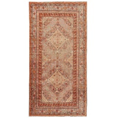 Antique Khotan/Samarkand Rug in Gray, Lavender, Rust  and Light Green