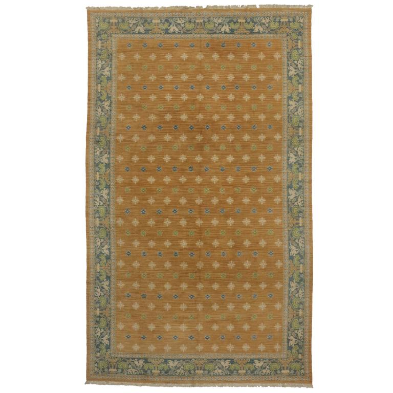 Mid Century Rug: Mid-Century Modern Portuguese Rug With Transitional Style