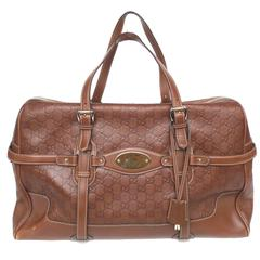 Gucci 85th Anniversary Brown Leather Horsebit Travel Bag