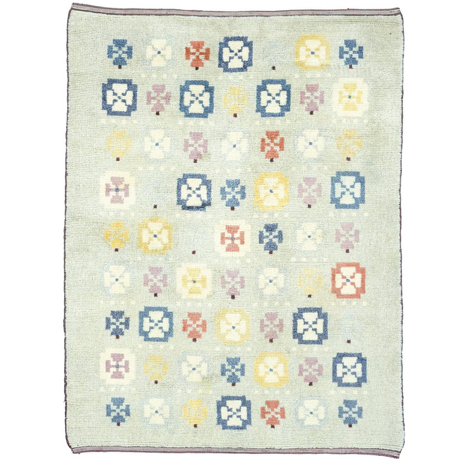 20th Century Swedish Pile-Weave Carpet