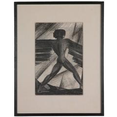 Charcoal on Paper by Boris Lovet-Lorski, circa 1925