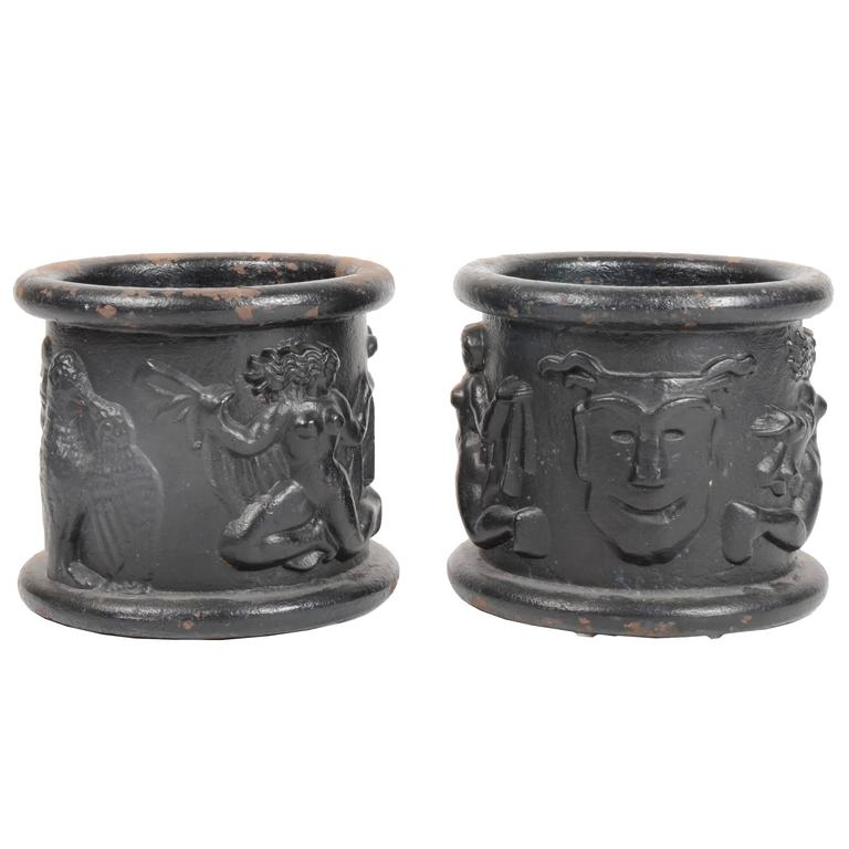 Anna Petrus Urns for Näfveqvarns Bruk in Cast Iron, Sweden, 1927 For Sale