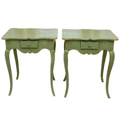 Pair of Louis XV Style Side Tables from Provence