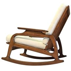 Great Pair of Rocking Chairs in Style of Adrian Pearsall