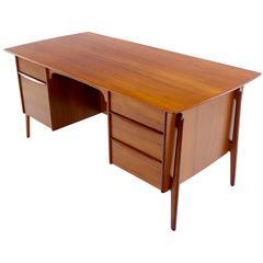 Danish Modern Teak Executive Desk Designed by Svend Madsen