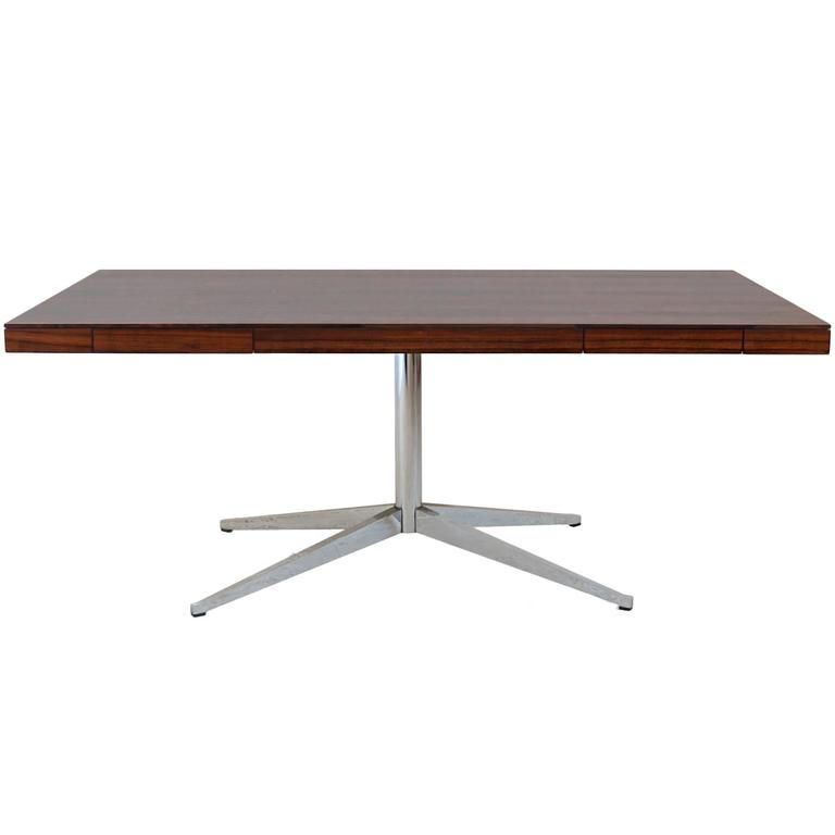 Florence Knoll Partner S Desk With Rosewood Top For