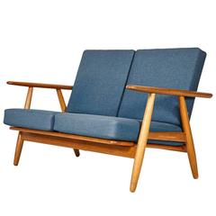 Hans J. Wegner GE 240 Cigar Sofa in Oak for GETAMA