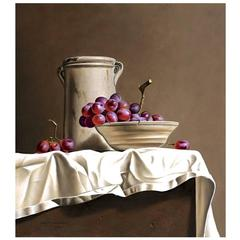 Still Life with Red Grapes by Stefaan Eyckmans