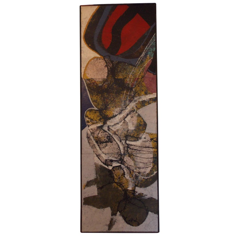 Don Schweikert Abstract Expressionist Painting, 1968 For Sale
