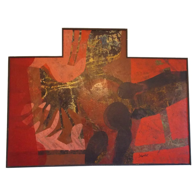 Don Schweikert Abstract Expressionist Painting, 1960s For Sale