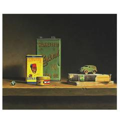 Still Life with Toy Car and Banania Tin by Stefaan Eyckmans