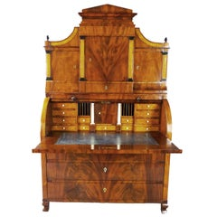 Bureau Secretaire Dutch Biedermeier Cylinder Top 19th Century