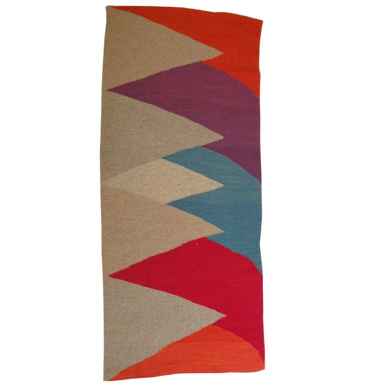"""""""Rosalie"""" Wool and Linen Carpet by Sally Vowell Gurley, 1989"""