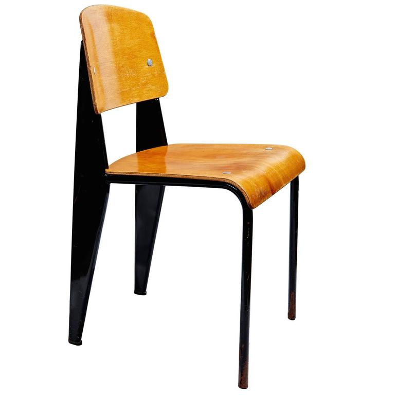chaise standard by jean prouv at 1stdibs. Black Bedroom Furniture Sets. Home Design Ideas