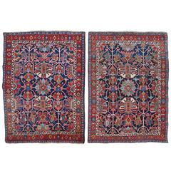 Pair of Antique Heriz Rugs