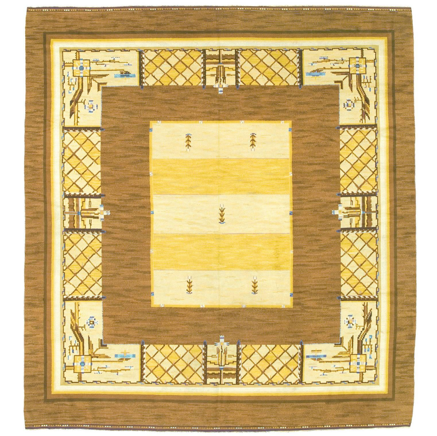 Early 20th Century Swedish Pile-Weave Carpet by Martha Gahn