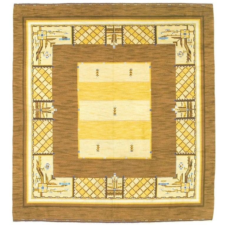 Early 20th Century Swedish Pile-Weave Carpet by Martha Gahn For Sale