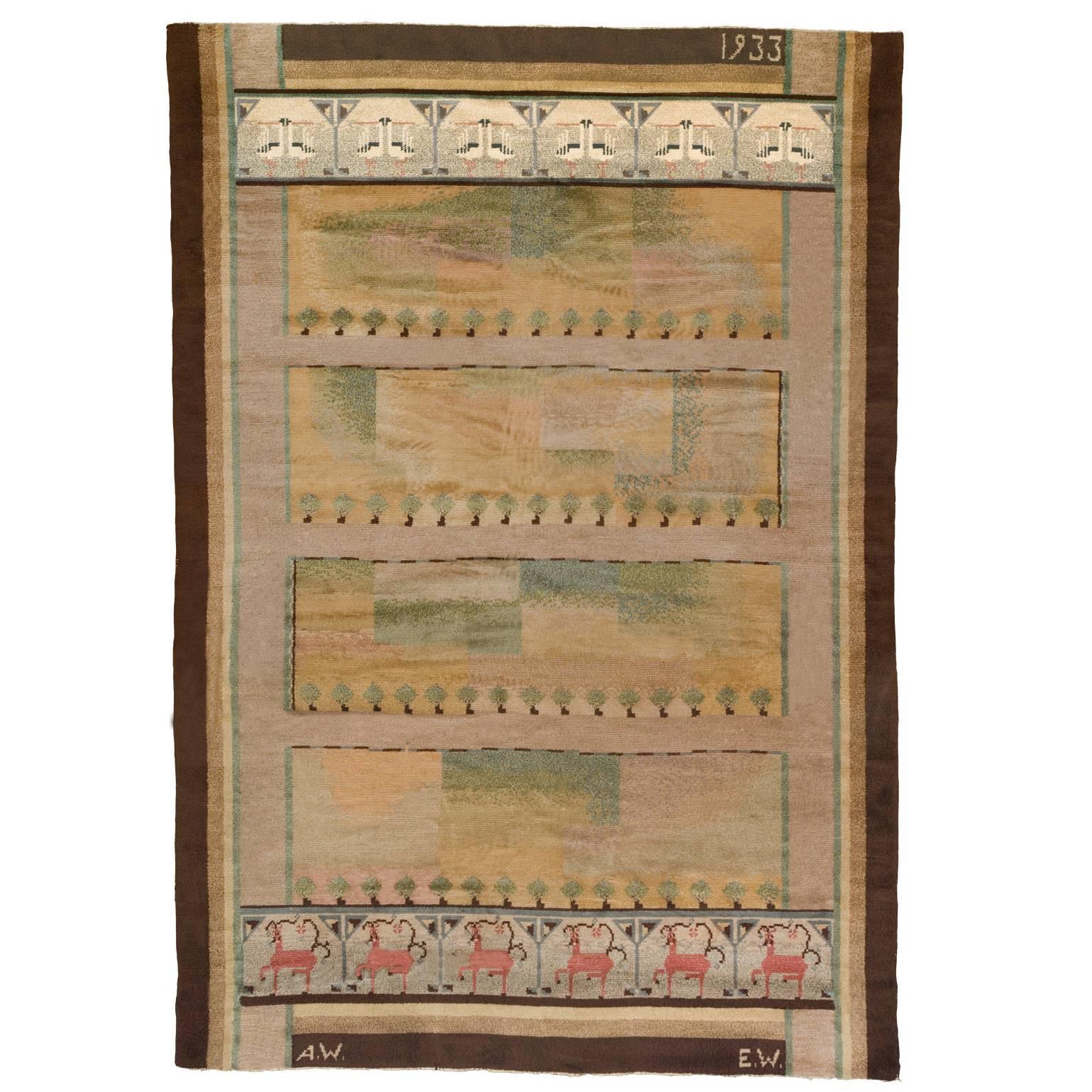 Early-20th Century Swedish Pile-Weave Carpet